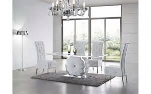 Table a manger design laque comforiumcom for Meuble salle À manger avec chaise salle a manger bois blanc