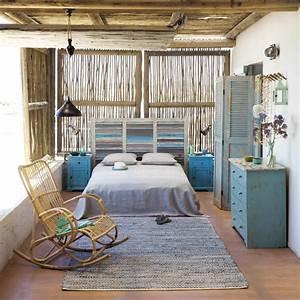 interieur ambiance bord de mer monmaitrecarre With beautiful couleur peinture salon tendance 7 un salon vintage le blog deco de maisons du monde