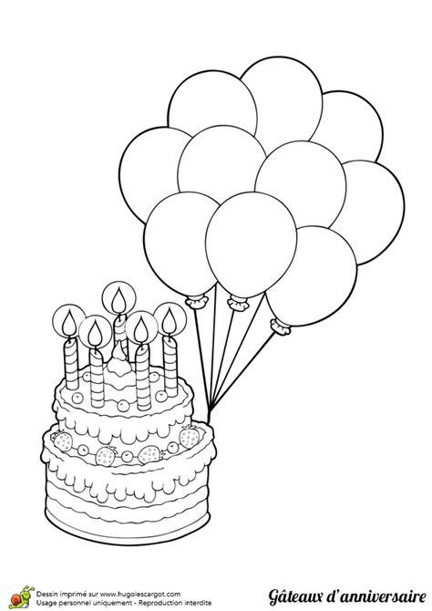 jeux cuisine gateau dessin à colorier gâteau d anniversaire et beaux ballons