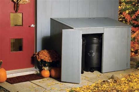 ways  hide  trash cans home  gardening ideas