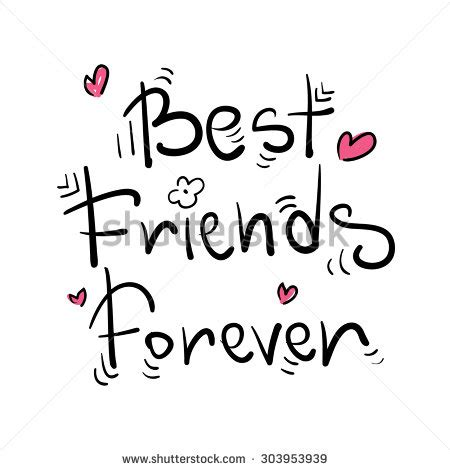 we sign our cards and letters bff best friends forever greeting card poster stock vector 50002
