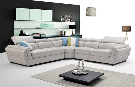 light grey sectional sofa ef  leather sectionals