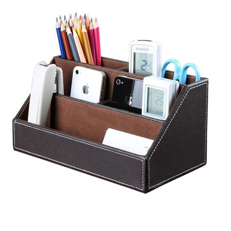Office Desk Accessories by Office Desk Accessories 5 Slot Pu Leather Stationery