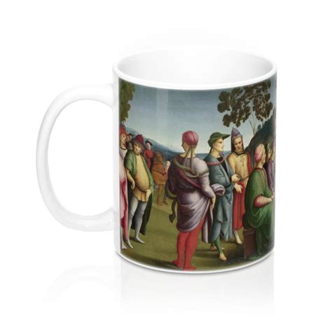 Get the best coffee cups available at a very affordable price at barista supplies. Raphael - Saint John the Baptist Preaching - 11oz Coffee Mug - Fine Art Mugs