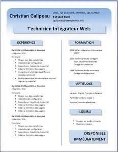 curriculum vitae template for word 2013 exemples et mod 232 les de cv 55 224 63 exemple de cv info