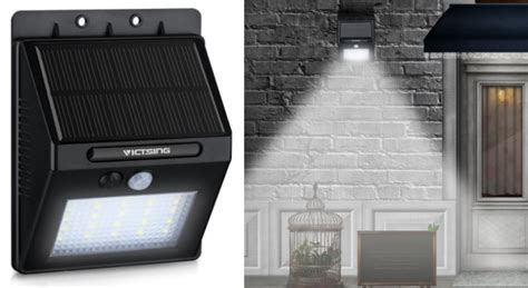 Victsing 20 Led Solar Motion Sensor Wireless Canopy Above Front Door With Side Glass Panels Frosted Interior French Doors Arched Double What Color To Paint Of Brick House Shade View Shoe Caddy For