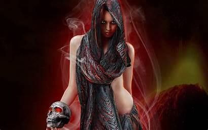 Gothic Wallpapers Dark Woman Desktop Background Skull