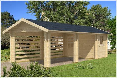 Gartenhaus Mit Carport  Gartenhaus  House Und Dekor