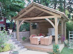 gazebos pergolas linea design decolinea design deco With couvrir une terrasse avec des tuiles