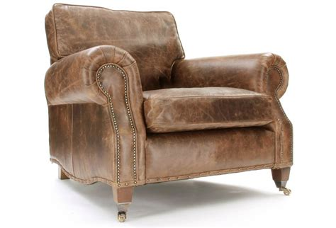Vintage Leather Armchair From Old Boot Sofas