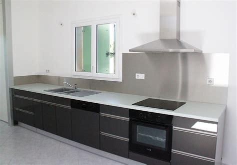 credence cuisine inox espace cuisine atelier du sur mesure