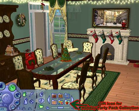 mod the sims collection for the christmas holiday party