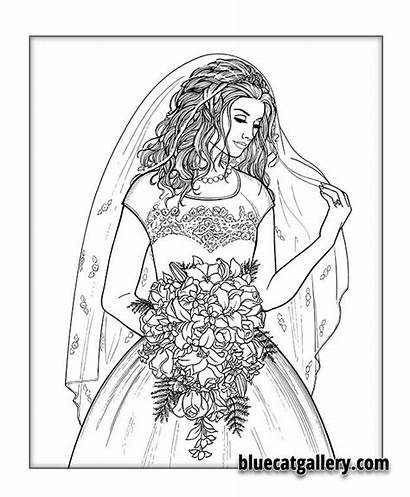 Coloring Pages Adult Books Bride Face Colouring