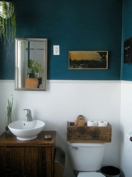 teal white and wood bathroom style ideas pinterest