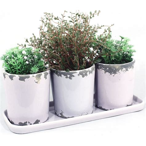 Window Sill Plant Pots by Lilac Windowsill Plant Pots Tray
