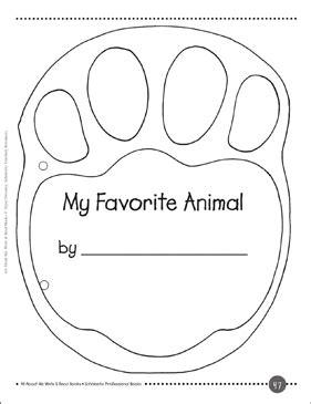 My Favorite Animal: A Write & Read Book | Printable Mini-Books