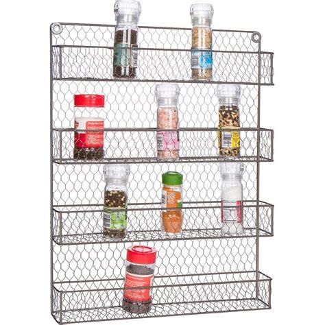 Wire Spice Rack by 4 Tier Wire Spice Rack Storage Organizer Wall Mount Or