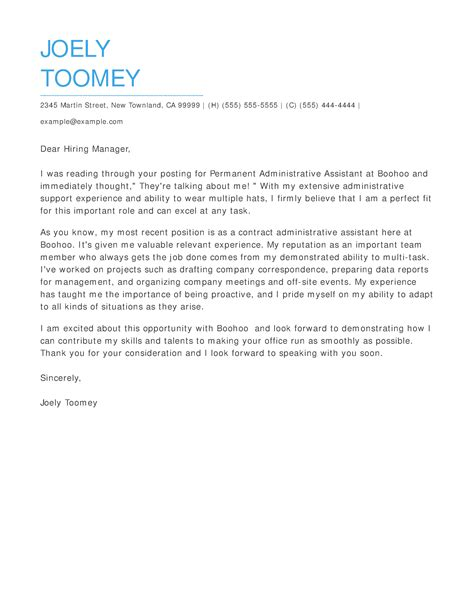 cover letter examples write  perfect cover letter