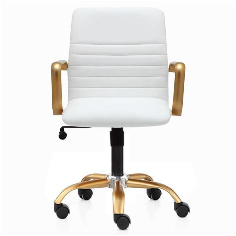 white tufted office chair white leather button tufted office chair