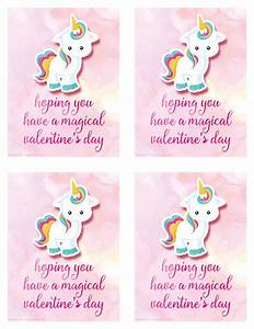 Free Printable Unicorn Valentine's Day Card