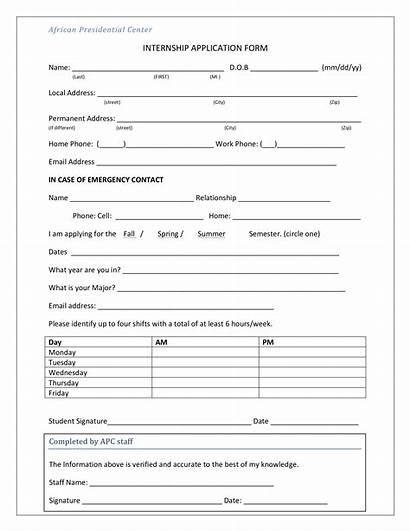 Internship Application Form Template Allbusinesstemplates Templates