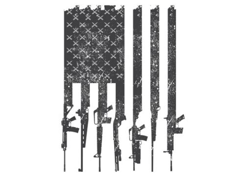 Title 4, chapter 1, section 1 1 (the united states federal flag law). American flag rifles t shirt vector