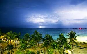 Nature Landscape Clouds Lightning Storm Horizon