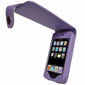 iGadgitz Purple Leather Case Cover for Apple iPod Touch ...