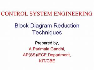 Block Diagram Reduction Techniques