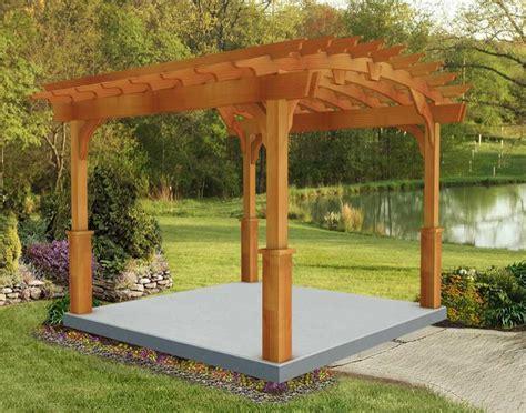 red cedar arched garden  standing pergolas pergolas