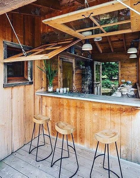 Backyard Saloon - 50 pub shed bar ideas for cool backyard retreat designs