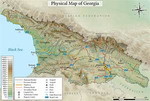 Geography Of Georgia  Country