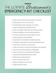 bridesmaid emergency kit popsugar - Bridesmaid Checklist