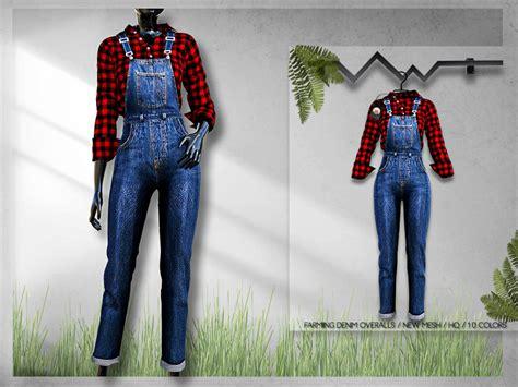farming denim overalls bd  busra tr  tsr sims