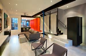 interior home renovations small row house renovation idea bold colors