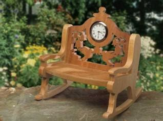 hummingbird rocking chair clock scroll  woodworking