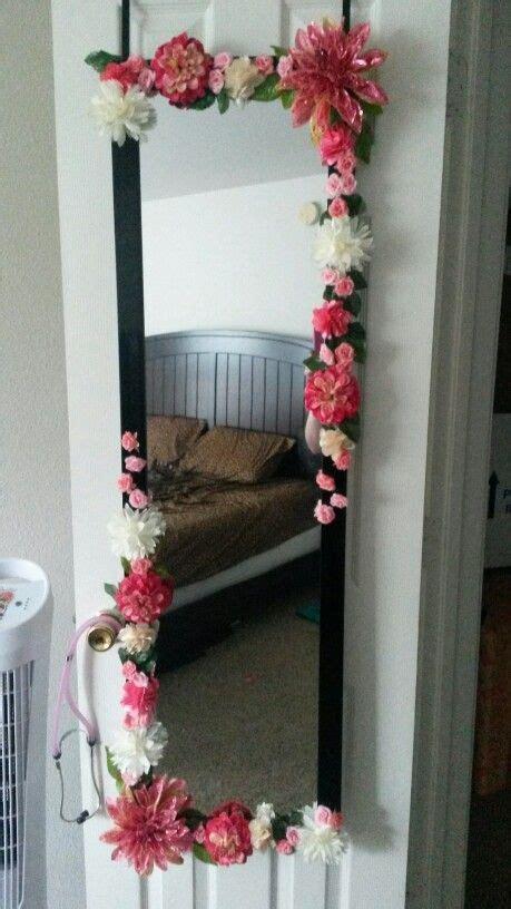 diy body mirror flower mirror diy flower mirror