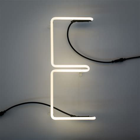 n 233 alphafont wall light with plug letter e e by seletti