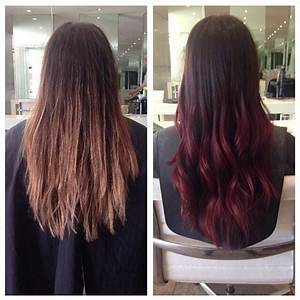 Ombré Hair Rouge : brown to red and brown to blonde ombre hair cheveux ~ Melissatoandfro.com Idées de Décoration
