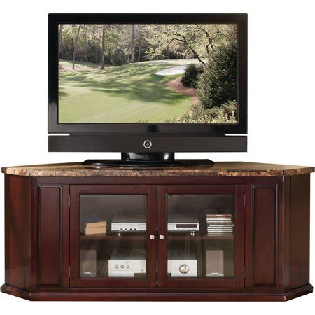 Walmart Cabinet Tv by Nevin Corner Tv Stand Faux Marble And Espresso Walmart