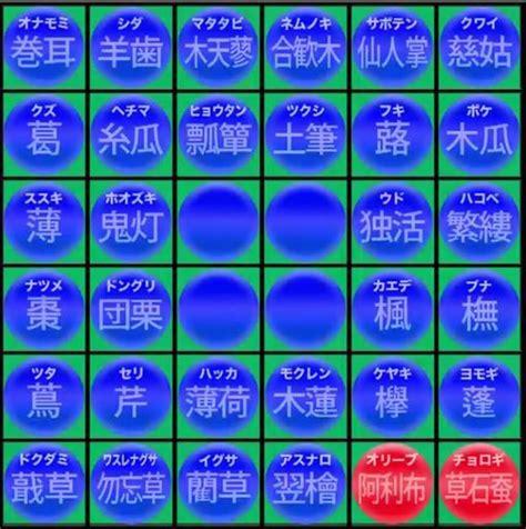 植物 の 名前 漢字