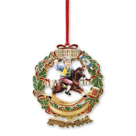 white house christmas ornament  childs rocking