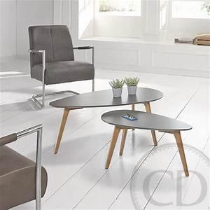 Table Basse Scandinave : table basse scandinave petite grise bajo sur cdc design ~ Teatrodelosmanantiales.com Idées de Décoration