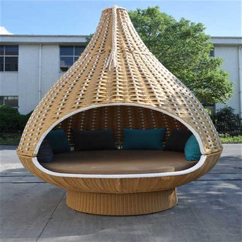 canapé fixe en forme de nid d 39 oiseau de jardin en rotin lit suspendu