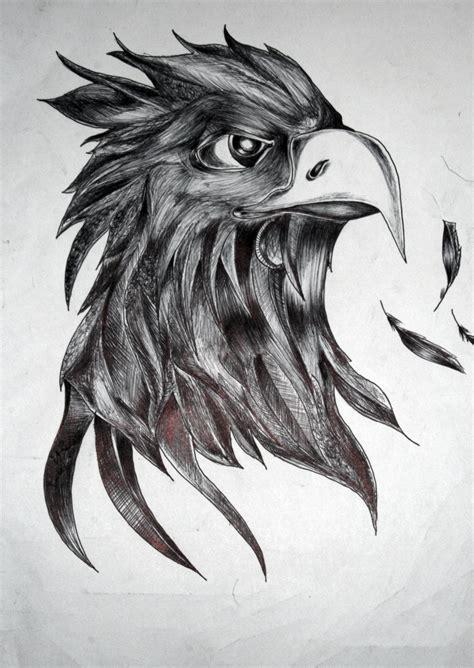 textured eagle drawing  misunderstood