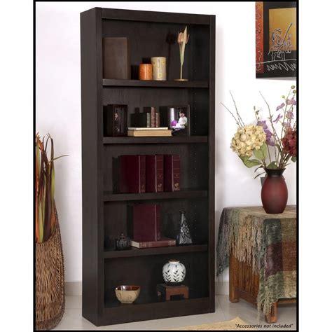 Single Shelf Bookshelf by Concepts In Wood Midas Single Wide 5 Shelf Bookcase In