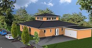 Bungalow Mit Atrium : atriumbungalow mit lichtturm 159 27 einfamilienhaus neubau massivbau stein auf stein ~ Frokenaadalensverden.com Haus und Dekorationen