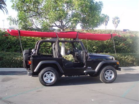 jeep kayak rack wrangler with kayak 2 pcs of foam and straps jeeps