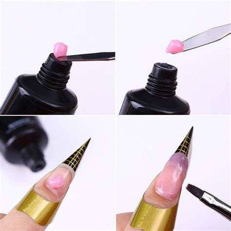 fast nail extension gel finger nails quick building poly