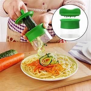 Zucchini Nudeln Schneider : neu handheld spiralizer nudeln zucchini spaghetti pasta maker gem seschneider ebay ~ Eleganceandgraceweddings.com Haus und Dekorationen